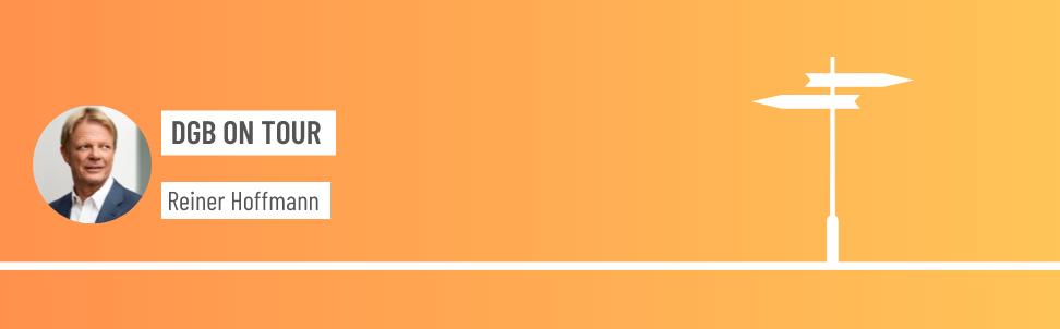 Header mit Text Reiner Hoffmann Sommertour 2020