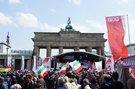 1. Mai in Berlin: Brandenburger Tor