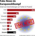 Grafik fake news im Europawahlkampf