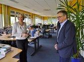 Mindestlohn-Hotline BMAS, Besuch DGB im Rahmen der Sommertour von DGB-Vorstand Stefan Körzell