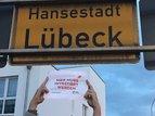 Straßenschild in Lübeck