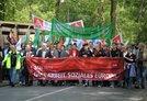 Mai-Demo in Duisburg mit DGB-Vorstandsmitglied Reiner Hoffmann