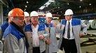DGB-Vorsitzender Reiner Hoffmann besucht Outokumpu-Werk in Dillenburg, 4. November 2015