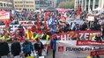 1. Mai 2017 in Leipzig; Kundgebung auf dem Markt