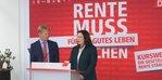 Der DGB-Vorsitzende Reiner Hoffmann und Bundesarbeitsministerin Andrea nahles bei einem Pressetermin