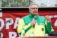 Michael Mertens, Vorsitzender GdP NRW, spricht in Recklinghausen
