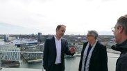 Botschaftsrat Hans von Schroeder im Gespräch mit Elke Hannack