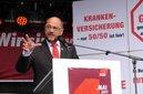 Auch SPD-Kanzlerkandidat Martin Schulz spricht in Aachen.