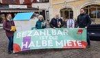 DGB-Aktionen gegen Mietenwahnsinn in Würzburg