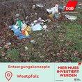 Müll am Straßenrand in der Westpfalz