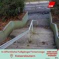 Verrottete Treppe und Straße und Kaiserslautern