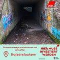 Dunkler Tunnel in Kaiserslautern