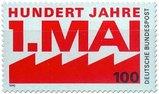 Briefmarke 100 Jahre Tag der Arbeit