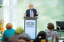 DGB-Vorsitzender Reiner Hoffmann beim L20 Gewerkschaftsgipfel in Berlin