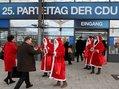 Werben für den Mindestlohn CDU Parteitag Hannover