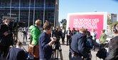 """Aktion zum Amnesty-International-Aufruf """"Für ein Europa der Menschenrechte!"""", 1.10.2015, Berlin"""