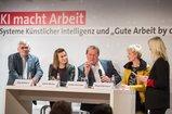 """Teilnehmerinnen und Teilnehmer auf der Veranstaltung """"KI macht Arbeit"""" am 15.01.2019 in der Kalkscheune in Berlin"""