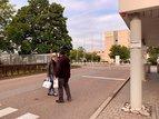 Verteilaktion beim Betrieb Schneider Sachsenwerk in Regensburg. In der Früh- und Spätschicht wurden rund 350 Tüten verteilt.