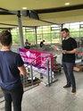 Aktionstag zur Europaqahl an der Universität und OTH in Regensburg. Hier wurden rund 500 Tüten verteilt.