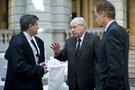 Guy Ryder (IGB), Michael Sommer (DGB), Peter Ammon (Staatsekretär Auswärtiges Amt)