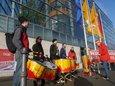 Trommeln  für die Rente vor der CDU-Zentrale