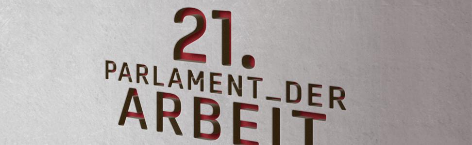 Logo 21. Parlament der Arbeit