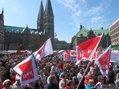 Kundgebung auf der Domshof in Bremen