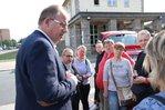 Stefan Körzell Sommertour 2019 Aktion Tarifverhandlungen Gebäudereinigung der IG BAU