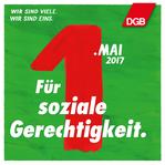 """1. Mai Grafik """"Für soziale Gerechtigkeit."""""""