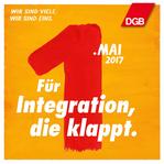 """1. Mai Grafik """"Für Integration, die klappt."""""""