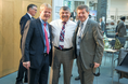 Reiner Hoffmann, Richard Trumka, Guy Ryder, L20 Gewerkschaftsgipfel in Berlin
