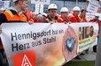 Stahlaktionstag der IG Metall: Kundgebung in Berlin vor dem Kanzleramt