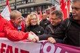 Zentrale Maikundgebung des DGB 2018 in Nürnberg mit dem DGB-Vorsitzenden Reiner Hoffmann