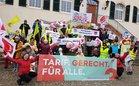 ver.di-Protestaktion bei Pro Seniore in Bad Bergzabern wird von DGB-Region Vorder- und Südpfalz unterstützt
