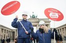 Berufspaar Kundgebung equal pay day 2016