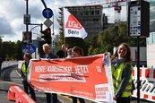 DGB-Rentenaktion vor der CDU-Parteizentrale in Berlin