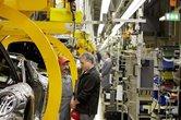 Punkt 12.00 Uhr standen auch im Porsche-Werk in Stuttgart-Zuffenhausen die Bänder still.