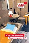 """Plakat-Motiv: """"Wohnklo mit Kochnische - Studentenwohnung 2017"""""""